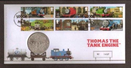 Royal Mint Édition limitée Thomas The Tank Engine de Premier Jour Timbres et Médaille pour Cartes
