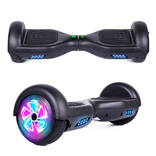 "YHR 6.5"" Hoverboard LED Lights Smart Self Balancing Hoverboard and Two-Flashing Wheel with UL2272 Certified for Kids and Adults"
