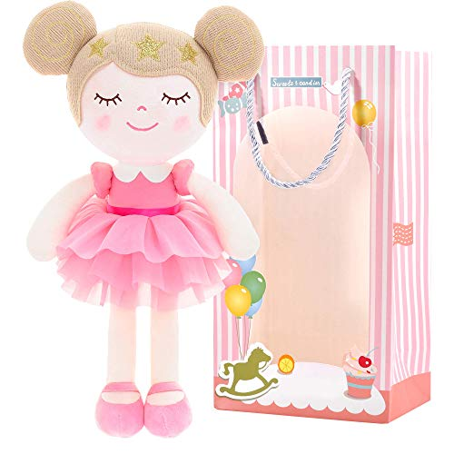 Gloveleya Baby Doll Girl Gifts Dolls Plush Dreaming Princess Pink with Gift Box 13""