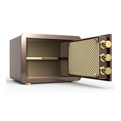 Cajas fuertes Gabinete de seguridad digital Caja de seguridad, acero sólido, caja fuerte de valor pequeño, huella dactilar Cerradura electrónica con llave de 2 capas Caja fuerte electrónica pequeña p