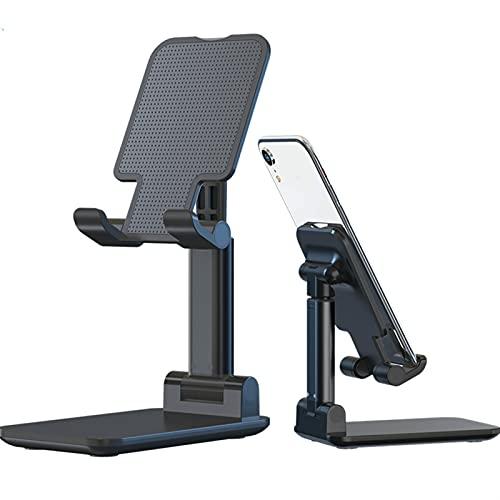 Soporte ajustable para teléfono celular, soporte portátil con diseño antideslizante estable, compatible con todos los teléfonos móviles/tabletas (negro)