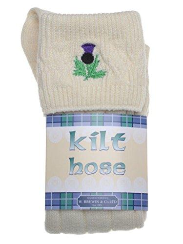 Distel bestrickte Kilt Socke - Vielzahl von Größen & Farben erhältlich