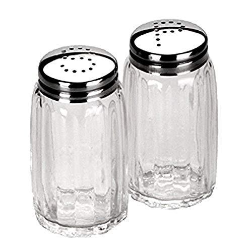 Ibili Salz-/Pfefferstreuer-Set klein, Edelstahl, silber/transparent, 9 x 8 x 4 cm, 2-Einheiten