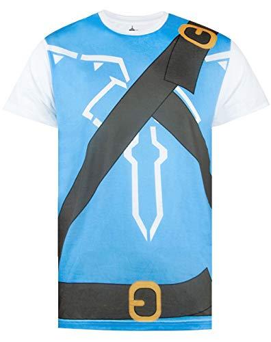 Camiseta masculina The Legend of Zelda Breath of The Wild, Azul, XX-Large