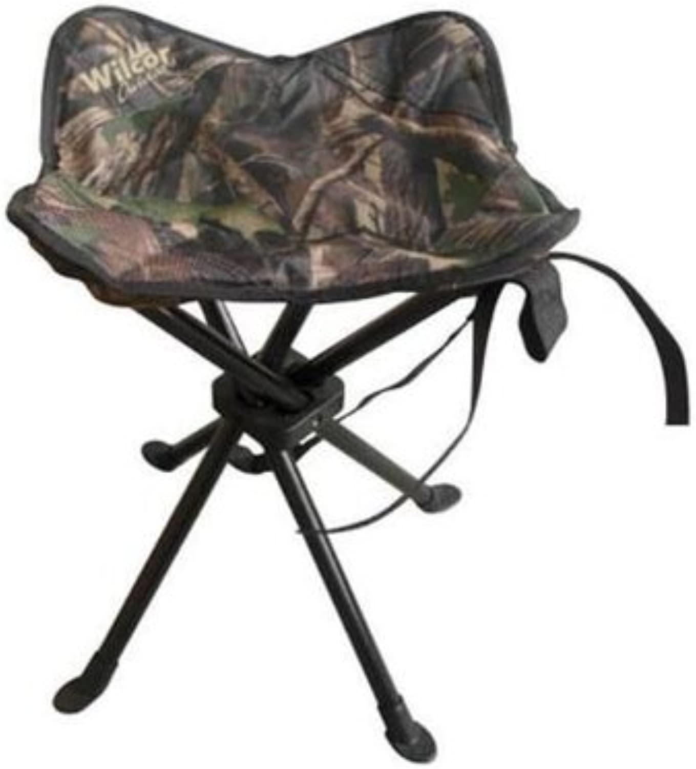 Camo Four Legged Folding Stool with Sand Feet and Bag Set of 2