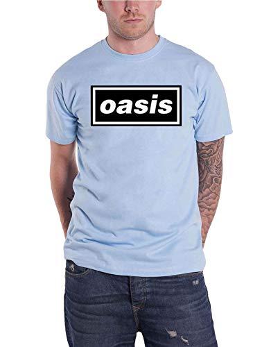 Oasis Maglietta Classic Decca Band Logo Ufficiale Uomo - Blu - M