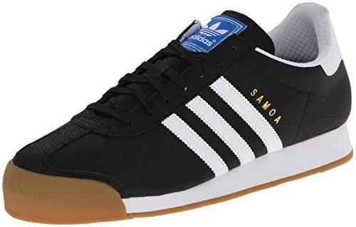 adidas Originals Men's Samoa Retro Sneaker Running Shoe, Black/White/Gold, 10 M US
