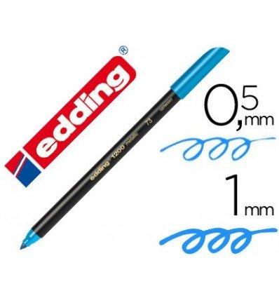 Edding - Rotulador punta fibra 1200 azul claro n.10 -punta redonda 0.5 mm (10 unidades)