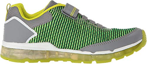 Geox Jungen J Android  Low-top A Sneaker, Grau (Grey/Lime), 30 EU