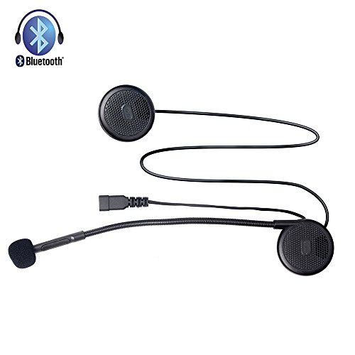 FreedConn L1 Bluetooth Headset for Motorcycle Helmet,T-COM02S Motorcycle Helmet Bluetooth Intercom,Cell Phone,Bluetooth GPS and Other Bluetooth Device