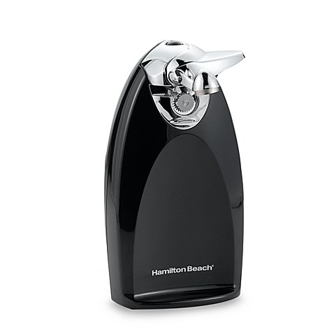 Hamilton Beach Classic Chrome Heavyweight Electric Can Opener features Bottle Opener, Knife Sharpener and Cord Storage