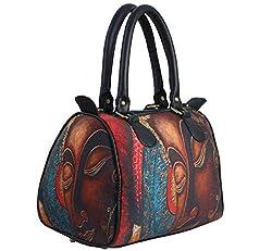 Bangprice Canvas digital printed multipurpose Metallic Buddha designer stylish duffle tote and handbag for Girls/Women