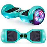 UNI-SUN Hoverboard Two-Wheel Self Balancing Hoverboard for Kids with LED Lights - UL 2272 Certified, Green