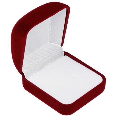 EYS JEWELRY/® /étui /à bijoux pour bagues de mariage alliance 70 x 60 x 30 mm velours blanc bo/îte /à bague /écrin emballage cadeau