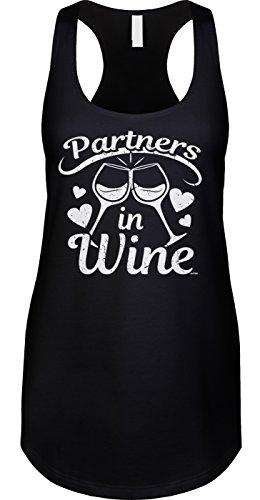 Blittzen - Camiseta de Tirantes para Mujer, Color Vino - Negro - Large