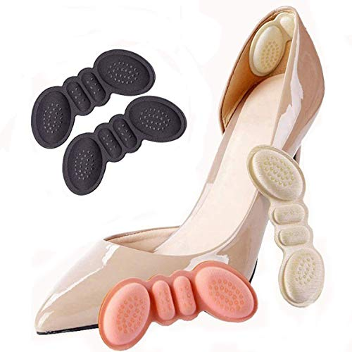 FonsBleaudy Heel Cushion snugs Inserts Shoe Pads for Loose Shoes Too Big Inserts Grips Liners Heel Blister Protectors for Women Men (2 Thin 1 Thick)