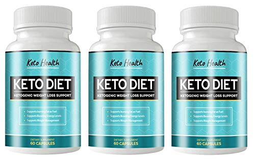 KETO Health Diet 180 Capsules - KETOGENIC Weight Loss Support - 3 Month Supply