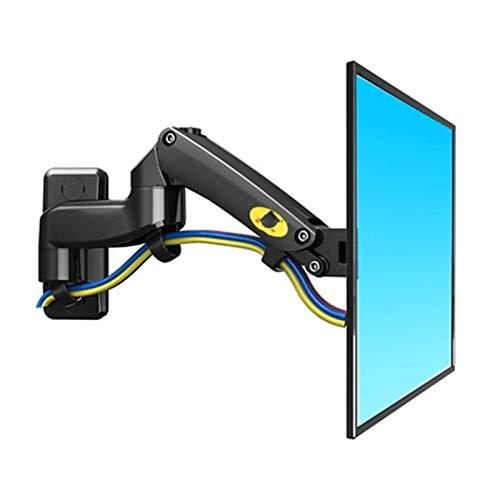 Inicio Equipo Soporte para TV 75x75 100x100 Aluminio Resorte de gas Soporte giratorio de montaje para TV de 360 grados Soporte para monitor LCD de 17 '27' con dos brazos (Color: S y montaje en te