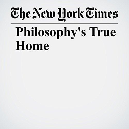 Philosophy's True Home copertina