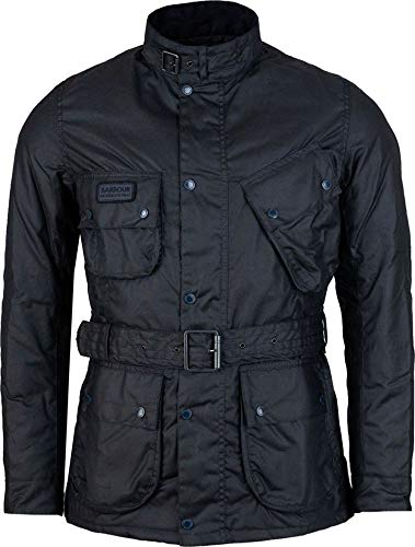 Barbour Coloured SL Intenational Wax Jacke, Mantel., Blau M