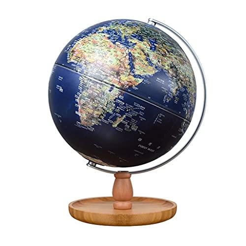 LTCTL Mappamondo Globo del Mondo da 9,8 Pollici Globi AR del Mondo con Supporto in bambù Lampada Tattile con Illuminazione A Globo Terrestre Globi geografici (Color : 20cm Diameter B)