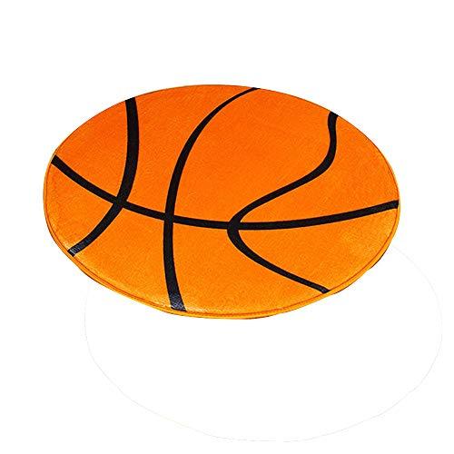 Takefuns Tapis de sol antidérapant avec motif ballon de basket-ball imprimé 3D pour chambre à coucher, salle de bain, chaise d