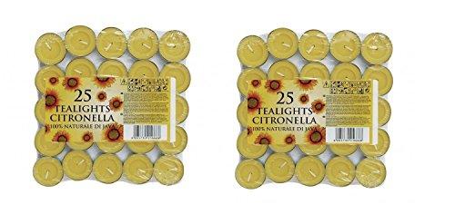 Citronella-Garden theelichtkaarsen - theelichtjes - 50 stuks