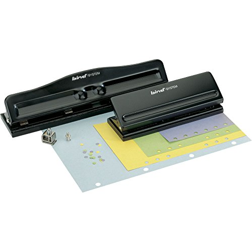 Bind Systemlocher für Terminplansysteme für DIN A5, A6 und A7 aus Metall schwarz T6001 T 6001