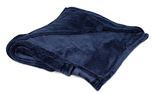 BIRDROCK HOME Internet's Best Plush Throw Blankets - Navy (Blue) - Ultra Soft Couch Blanket - Light Weight Sofa Throw - 100% Microfiber Polyester - Easy Travel - Bed - 50 x 60