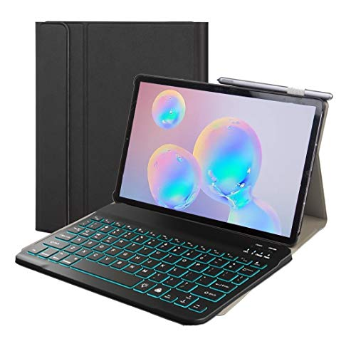 LISUONG MCDC AYYD ST500 para Samsung Galaxy Tab A7 T500 / T505 10.4 Pulso 2020 Funda de Cuero de Bluetooth Desmontable Ultrafino con función de Soporte y luz de retroiluminación (Color : Blue)