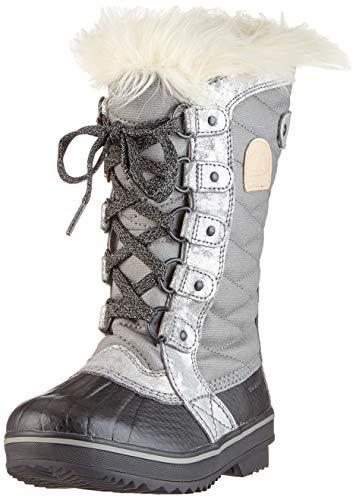 Sorel Madson Chukka Waterproof Botas para Nieve, Mujer, Gris (Quarry, Natural Tan), 32 EU