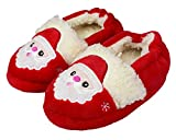 Toddler's Cute Cartoon Slippers Warm Winter Shoes for Girls Size 8-9 US Santa Claus Red