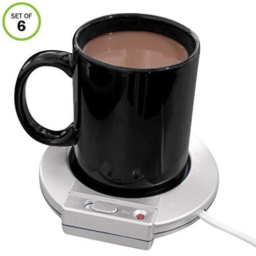 Evelots Electric Mug Warmer/Heater-Home/Office-Coffee/Tea/Soup-On/Off-Set/6