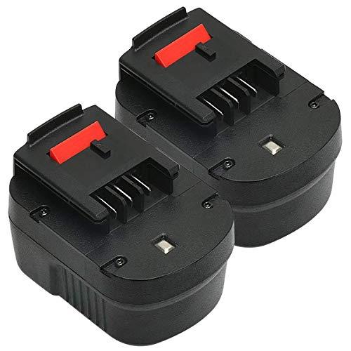 ADVTRONICS 2 Pcs 12V 3.5Ah NiMH Batería para A12 HPB12 A12E A12-XJ A12EX FSB12 FS120B FS120BX A1712 B-8315 BD-1204L BD1204L BPT1047