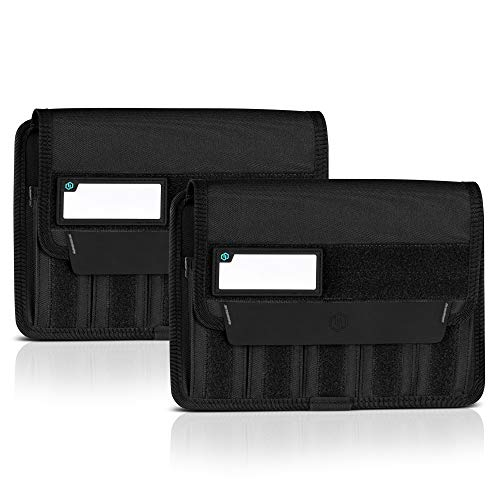 Savior Equipment Mag Buddy 2-Pack Tactical Pistol Mag Pouch Hold Up to 5 Standard Single/Double Stack Magazine, Handgun Magazine Organizer Holder Transportation Carrier, 4 of ID Patches Included