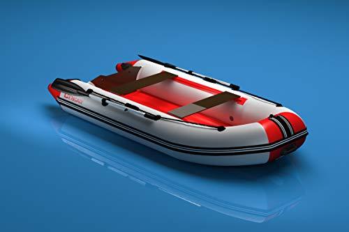 N-320 cm opblaasbare boot visboot (wit/rood) met luchtbodem Bengar Nexus