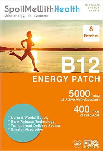SpoilMeWith B12 Patches. 8 Week Supply. 5000 mcg (B12 Methylcobalamin) + Folic Acid 0.4 mg