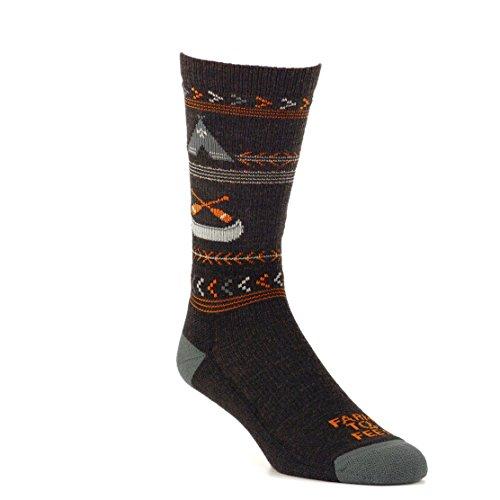 Farm to Feet Franklin - Calcetines unisex de lana merina, color carbón, talla pequeña