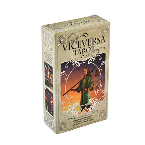 QIANGU Tarot, 78 Piezas Vice Versa Tarot Kit Tarot Cards Oracle Deck Family Party Juego de Mesa de Juguete