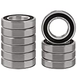XiKe 10 Pcs 6006-2RS Double Rubber Seal Bearings 30x55x13mm, Pre-Lubricated and Stable Performance and Cost Effective, Deep Groove Ball Bearings.