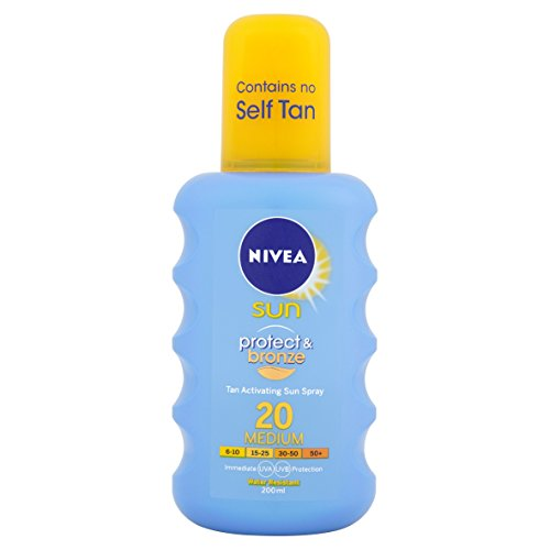 Nivea Sun Protect and Bronze Tan Activating 20 Medium Sun Spray, 200 ml