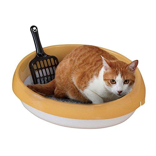 アイリスオーヤマ ネコのトイレ (スコップ付き) 三毛 S サイズ