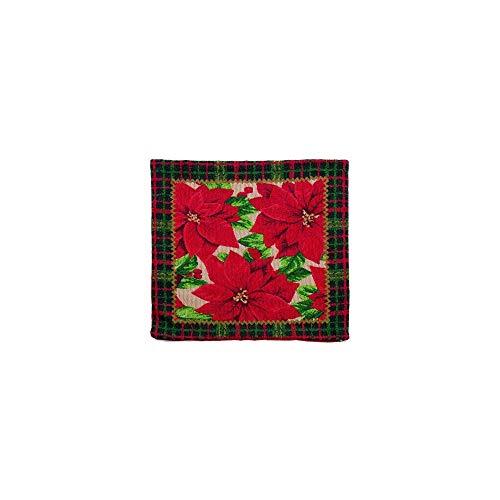 Capa para Almofada Vermelho Poinsettia 44 X 44 Cm