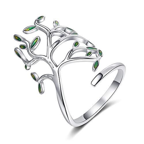 iScooter Olivenbaum-Ring, verstellbarer offener Ring, Modeschmuck, Geschenk für Frauen und Mädchen