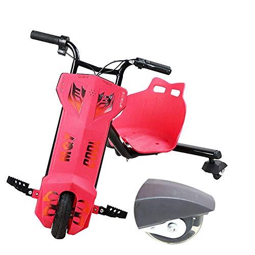 LKITYGF GUANHU sólido Mini Drift Electric Drift Trike Tray-ON Toy 360 ° Material ABS de Tres Ruedas, aceleración, protección Ambiental de Seguridad Duradera Adecuada para niños Mayores de 6 años