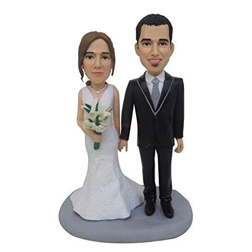 Bobblehead personalizzato Personalizza sposi Cake Toppers Fan di calcio Cake topper Souvenir di anniversario di matrimonio di Turui Figurine
