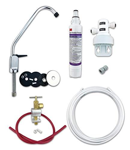 Sistema de filtro de agua potable 3M para debajo del fregadero con filtro de bacterias AP2-C405-SG Sistema completo de bricolaje (grifo de palanca)
