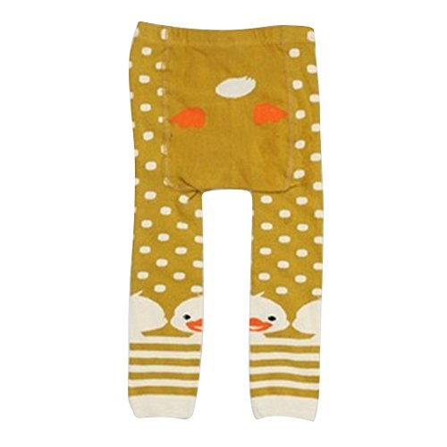 Collants pour bébés tout-petits, Meedot Coton Collants pour bébés Body-Stocking Ninth Leggings Yellow Duck S/0-2 years