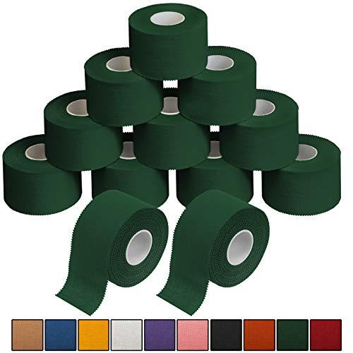 ALPIDEX 12 x Sport-Tape 3,8 cm x 10 m in 10, Farbe:grün