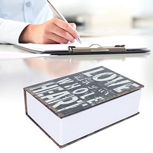 Caja de Seguridad Caja de Dinero Libro de Diccionario Caja de Dinero Documentos Joyas para Ahorrar Monedas Tarjetas bancarias